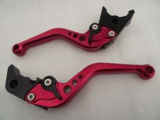 Buell CYCLONE (97-02), CNC levers short red/black adjusters, F14/B55